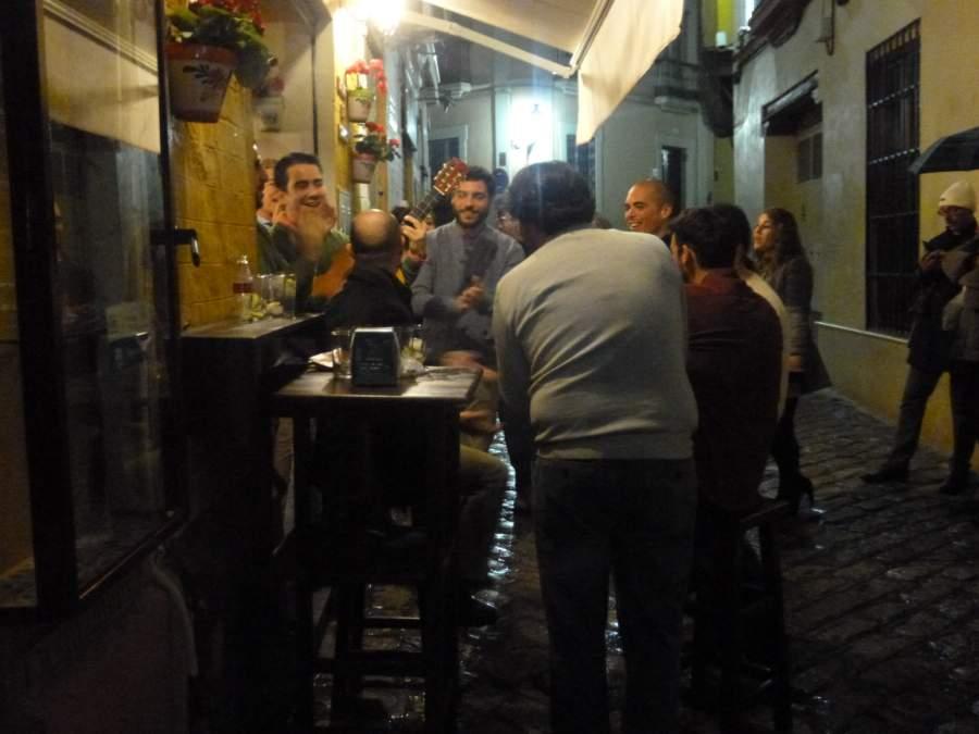 Music outside a bar